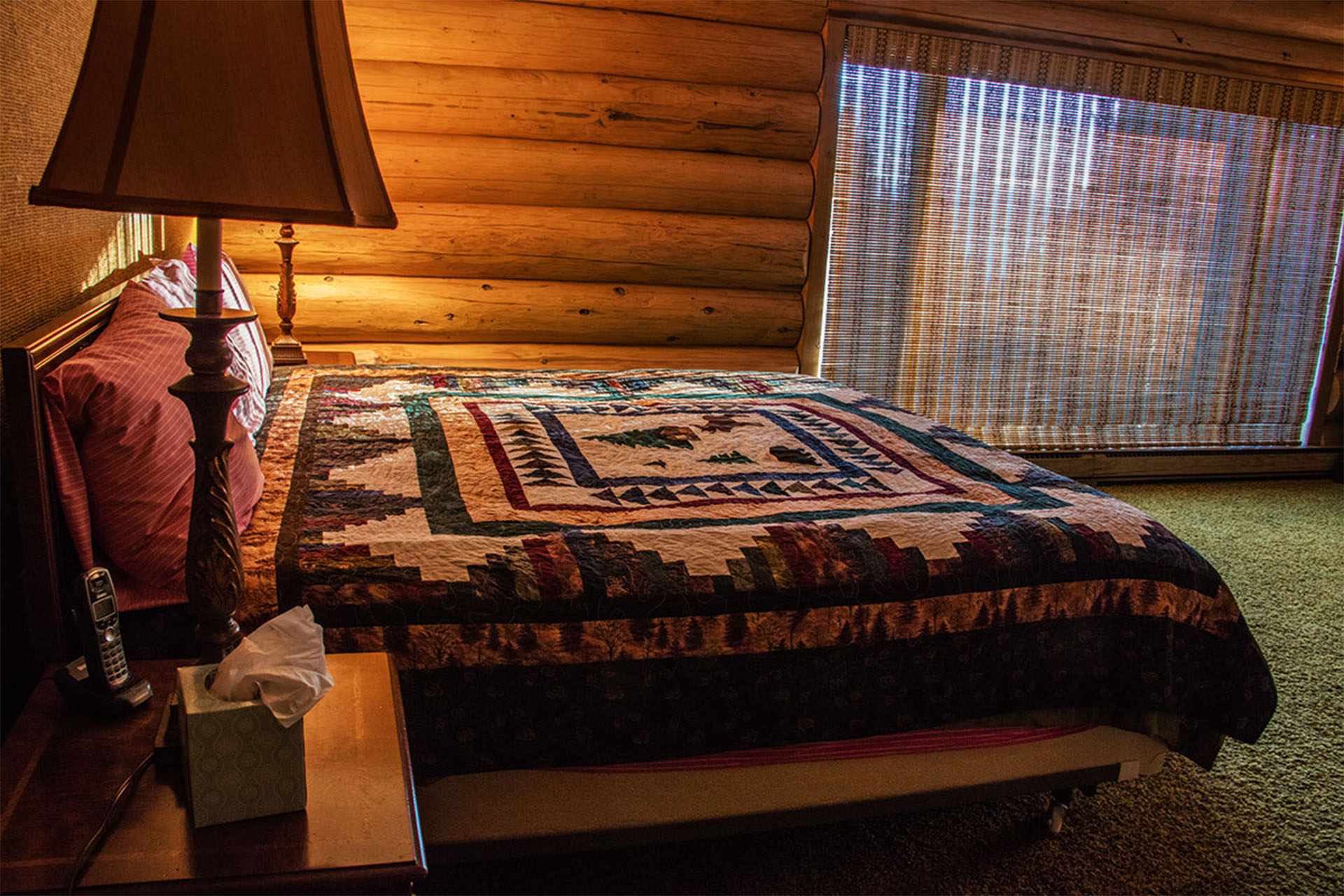 master bedroom with quilt